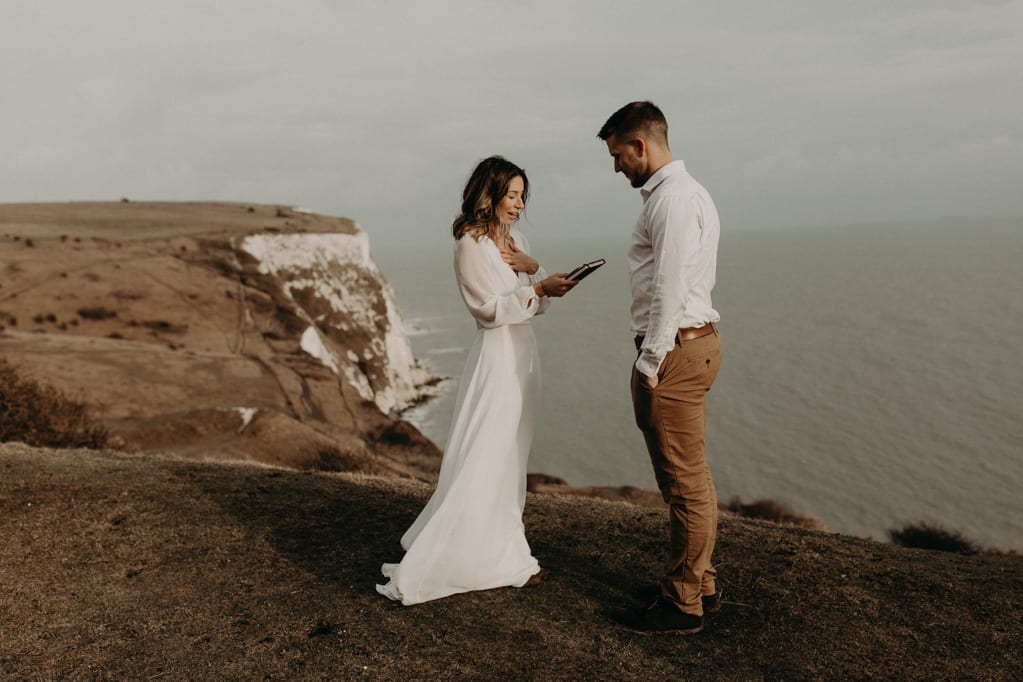 elopement england dover vow renewal