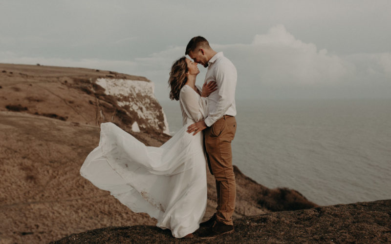 elopement england dover vow renewal
